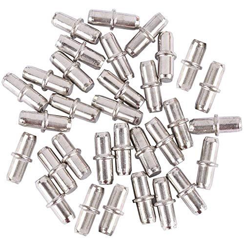 tbestmax 100Packungen Ablage Pins, 5mm Regal Unterstützung Knöpfen mit Kunststoffkappe Schrank Möbel -