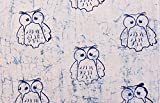 #8: Cotton Hand Block Owl Sanganeri Printed Fabric Dress Making Fabric By Handicraft-Palace (2.5 Meter)