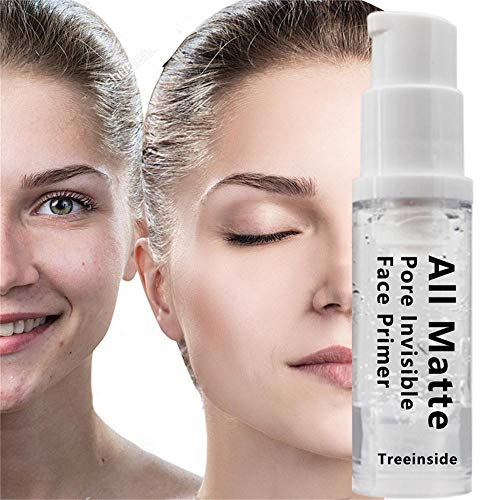 Cwemimifa Flüssiger Grundlage Cremefundament,Natural Blur Primer Soft Smooth Gel Textures Langlebiges Make-up für die Foundation,Weiß -