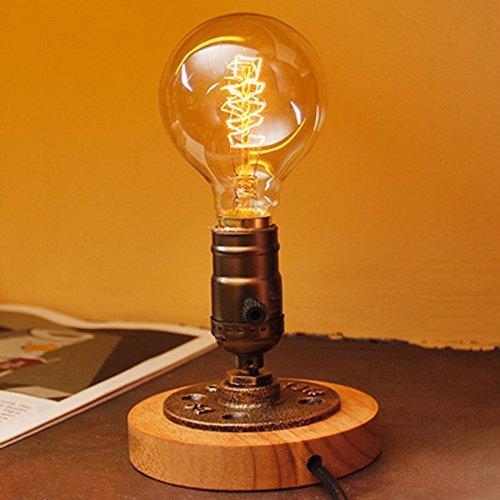 E27 Schreibtischlampen Retro Wohnzimmer Cafe Bar Club Dekorative Leuchte Tischlampe Schlafzimmer Nachttischlampe Tageslichtlampe Nachtlicht - Chrome Base Bar Tisch