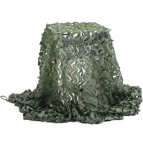 Camouflage Netz, Armee Tarnnetz Green 2M x 3M Tarnung Net für Sonnenschutz Jagd Waldlandschaft...