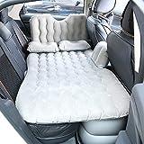 Dinroll Auto Reise Bett aufblasbar Bett Reise Rücksitz Erweiterte Schlafauflage Bett Couch Outdoor Matratze, grau, 80x135cm