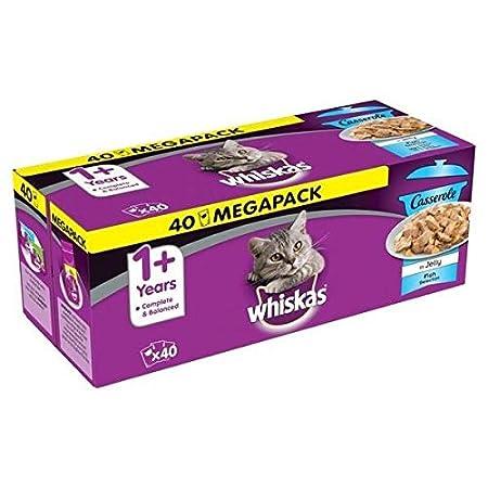 Whiskas 1 + Katzenfutter Ragout – Fisch-Auswahl in Gelee – Abwechslungsreiches Nassfutter in verschiedenen…
