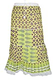 Indiatrendzs Women Skirts Cotton Green P...