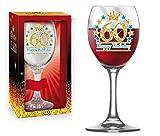 BICCHIERE 60 ANNI Calice glitter ORO Gadget idea regalo festa 60° Compleanno