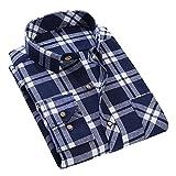 Herren Langarm Baumwollhemd Plaid Flanellhemd Männer Casual Shirt Top Bluse/Regular Fit/5 Farben/5 Größen