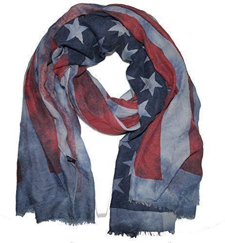 USA Batic Amérique étoiles écharpe châle Bleu - Bleu