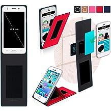 Funda para Jiake N9200 Mini en Rojo - Innovadora Funda 4 en 1-Anti-Gravedad para Montaje en Pared, Soporte de Smartphone en Vehículos, Soporte de Smartphone - Protector Anti-Golpes para Coches y Paredes sin necesidad de herramientas o pegamento - Funda de Reboon para Jiake N9200 Mini Original