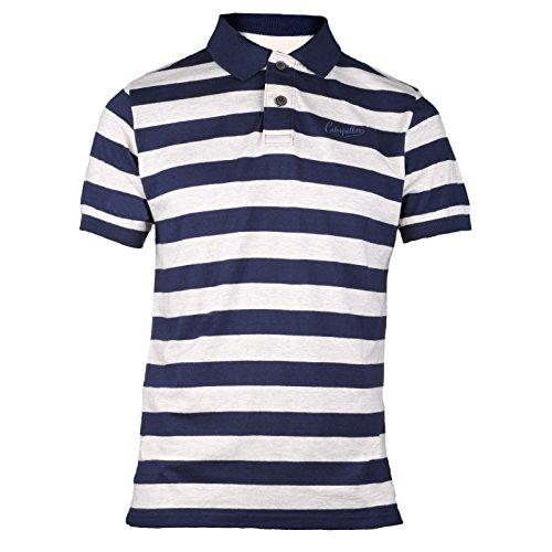 Caterpillar Kurzarm Herren Polo Shirt Welch Blau