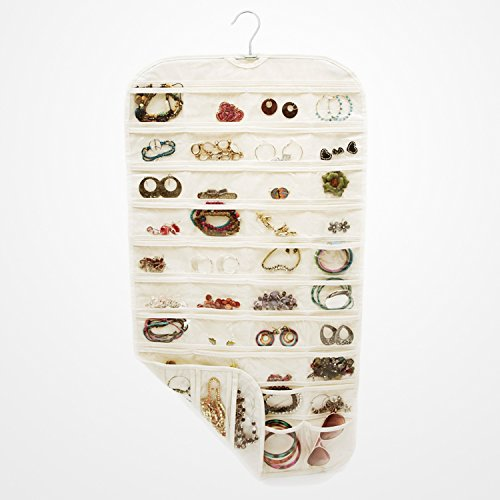 jewelry-hanging-yilon-80-pocket-hanging-jewelry-organizer-jewelry-racks-non-woven-fabric-beige