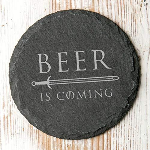 Beer is Coming Rustikal Slate Getränke Untersetzer–Game Of Thrones Geschenk für Herren
