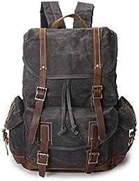 003a27229240f Jxth Lässige Satchel Notebook Rucksack Vintage Männer Frauen Rucksack  Daypack wasserdicht…
