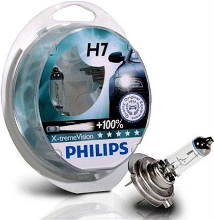 Preisvergleich Produktbild H7Philips X-Treme Vision + 100% Glühbirnen (Paar)