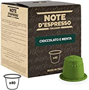 Note d'Espresso Chocolate and Mint Capsules 7g x 40 Capsules Exclusively Compatible with Nespresso* machines