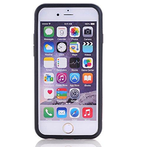 BCIT iPhone 6 6S Plus Custodia - Ultra Sottile 2-in-1 Case Protettivo Estrema Assorbimento-Urti [Kickstand] Armatura Cover Per iPhone 6 6S Plus - Nero Rosso