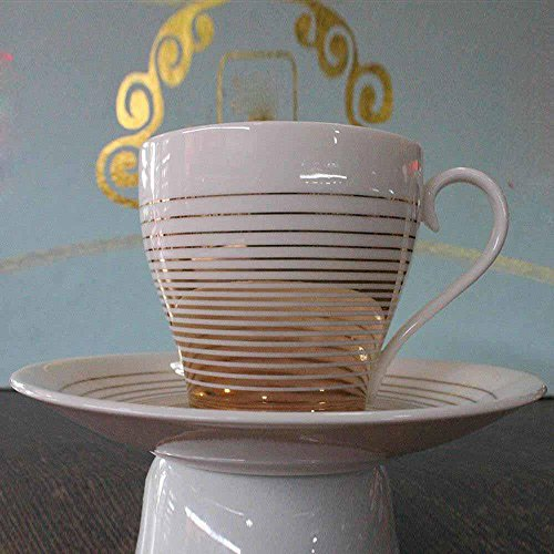 SSBY Luxe de style européen café porcelaine tasses et soucoupes, tasse en céramique fine, cadeau tasse