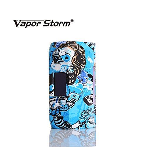 Vapor Storm Storm230 Bypass 200W VW TC Box Mod Vape Dual 18650 Battery (Non incluso) E-Sigaretta RDA RBA RDTA Blue Non contiene nicotina o tabacco