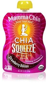Mamma Chia - Organic Squeeze Vitality Snacks Box Strawberry Banana 8 Pack 179498