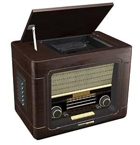 radio lecteur cd vintage 1940 39 s retro des annees 40 cadran lumineux high tech. Black Bedroom Furniture Sets. Home Design Ideas