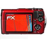 Olympus TG-5 Anti-choc Film Protecteur - 3 x atFoliX FX-Shock-Antireflex amortisseur anti-éblouissement Anti-casse Protecteur d'écran
