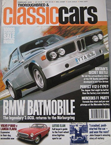 thoroughbred-classic-cars-magazine-02-2000-featuring-bmw-30csl-mercedes-190e-25-16-lancia-volvo