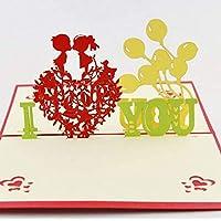Cartolina di San Valentino pop-up 3D a mano di BC Worldwide Ltd, ti amo cartolina d'auguri vintage, anniversario di matrimonio, compleanno, fidanzamento, carta proposta