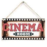Meijiafei salle de Cinema-Film Cadre Panneau de cinéma Maison. Cadeau pour papa, enfants, homme Grotte, den 25,4x 12,7cm...