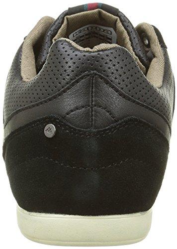 Kappa KINAY 2, Sneaker Basse Uomo Nero (Noir (Black/Otter Brwn/Red Dahlia))