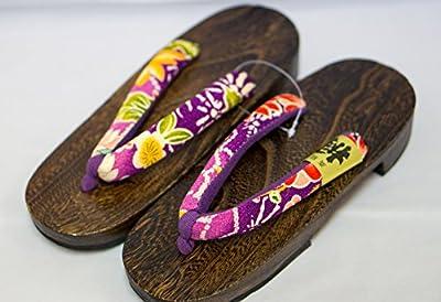 [Japón Hecho] Geta Paulownia sandalias de madera tradicional de calzado Oogiku Diseño Talla M