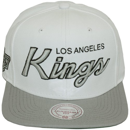 Mitchell & Ness - Casquette Snapback Homme Los Angeles Kings Throwback All White