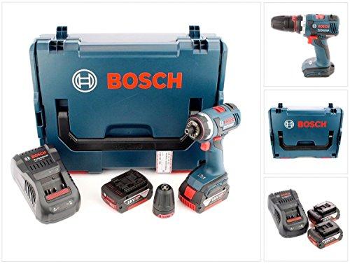 Preisvergleich Produktbild Bosch GSR 18 V-EC FC2 Akku Bohrschrauber mit Bohrfutteraufsatz GFA FC2 + 2x GBA 5,0 Ah Akkus + Ladegerät GAL 1880 CV + L-Boxx