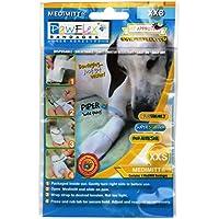PawFlex vendas, adhesivo, desechables, lavable y reutilizable medimitt vendas para mascotas (Pack de 4)