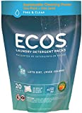 Earth friendly Products Ecos Laundry Powder pods Fragrance free (confezione da 1, totale 20 cialde)