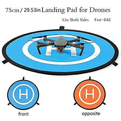 LITEBEE PGY Protective Fast-fold Drone Landing Pad helipad for RC Drone DJI Phantom 2 3 4 Inspire 1 Mavic ( 75cm Dimension)