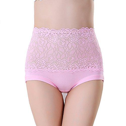 FZmix Women'S Briefs Underwear Modal Abdomen Panties Multicolor Classic High Waist Lady'S Underwear Girl Lingerie Underpants Pink