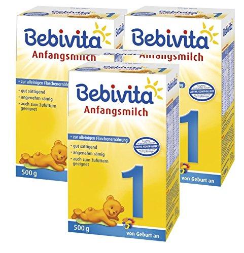 Bebivita 1 Anfangsmilch - von Geburt an, 3er Pack (3 x 500g)