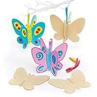 Baker Ross Ltd AR432 Wooden 3D Butterflies, Wood