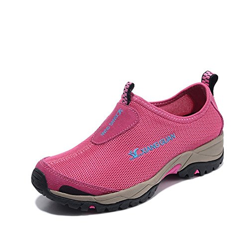 Xiang Guan Femme Mesh Respirant Outdoor Slippers Chaussures de Camping Randonnée Walking Trekking Loafers Rose