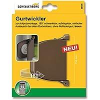 Schellenberg 50152 - Enrollador atornillado mini, marrón