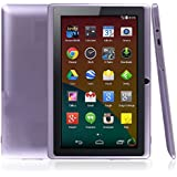 """BTC Flame UK Quad Core 7"""" Tablet PC (8GB HDD, Google Android KitKat, HDMI, WIFI, USB, Bluetooth, res:1024x600) - Lilac"""