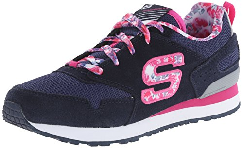 Skechers Retrospect, Low-Top Sneaker Ragazza, Blu (BLMT), 34