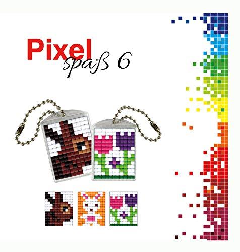 Pracht Creatives Hobby P90025-00505 - Juego de Manualidades para Manualidades (6 para 2 medallones, Llavero, para niños, niños y niñas, como pequeño Regalo, para cumpleaños Infantiles)