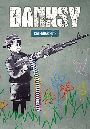 Imagicom imacal216Wall Calendar of Banksy, Paper, Red, 0.1X 30.5X 42.5Cm