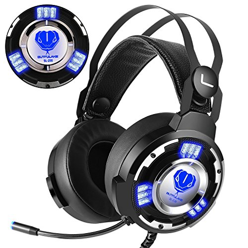 Gaming Kopfhörer, Greatever Gaming Headset mit Mikrofon für PS4 PC Xbox One PC Laptop Mac IPad Tablet Mobile Phones