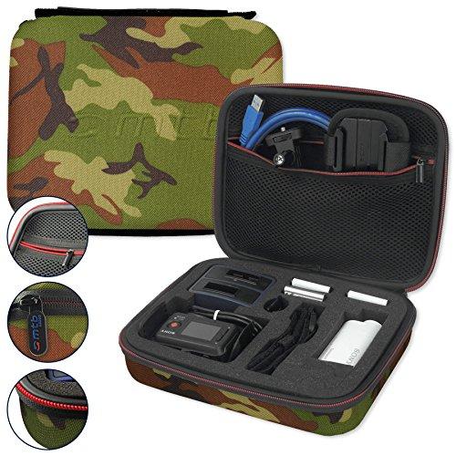 mtb more energy® Schutztasche XL für Sony FDR-X1000V, X3000R / HDR-AZ1, AS300(R), AS200V, AS100V, AS50 - Tarnfarben - Koffer Case Stecksystem Modular -