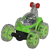 3D crazy car toy with a remote control - XZ244, Green