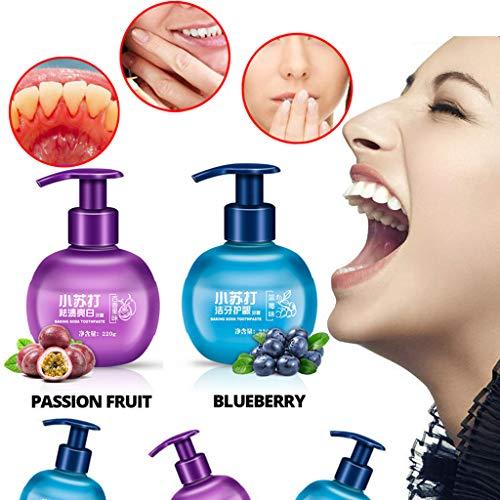 QHJ Zahnpasta Weisse Zähne,Fleckenentfernung Whitening Zahnpasta Gegen Zahnfleischbluten Zahnpasta (Lila) - Whitening-lösung