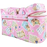 Teeny Weeny Multi Purpose Baby Diaper Mother Bag With 2 Bottle Holders - Keep Baby Bottles Warm - Assorted Prints (Pink)