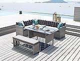 HTI-Line Terrassenmöbel Elba Loungemöbel Gartenmöbel Garnitur