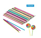 WLPZML 100PCS Pastal Colors Paper Lollipop - süß Macht es Cake Pop Sticks - für Lollipop Making Party Favors Favors